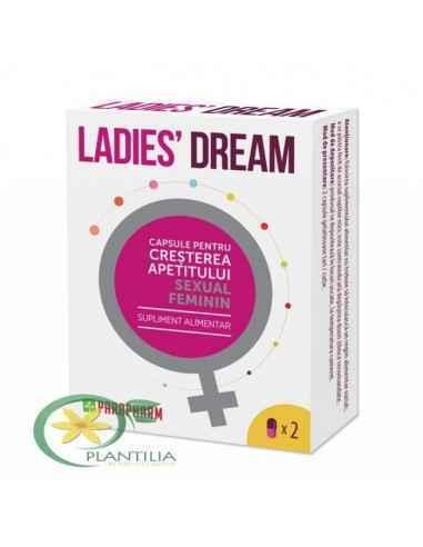 Ladies dream 2 cps Parapharm, Ladies' dream capsule pentru cresterea apetitului sexual feminim ParapharmMod de prezentare: 2 cap