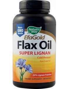 Flax Oil Super Lignan (acizi grasi Omega-3/6/9) 100 capsule moi Nature's Way