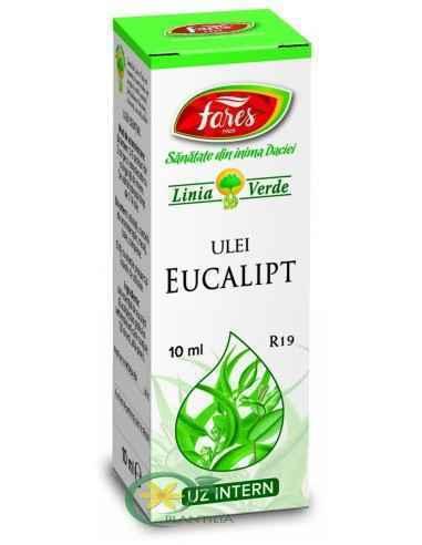 Ulei Esential Eucalipt 10ML Fares  Contribuie la eliminarea disconfortului respirator.