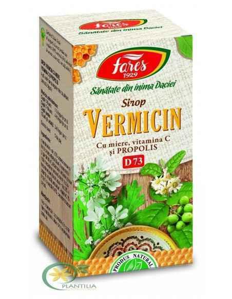 Sirop Vermicin cu Miere Vitamina C Propolis 100 ml Fares