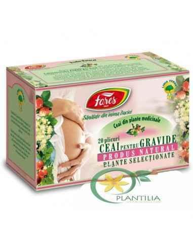 Ceai pentru Gravide 20 plicuri Fares Acest ceai inlatura starile de greata, imbunatateste digestia si relaxeaza.