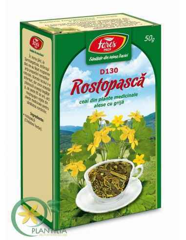 Ceai Rostopasca 50g Fares Susţine funcţionarea normală a ficatului. Contribuie la funcţionarea normală a sistemului digestiv.