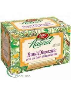 Ceai Buna Dispozitie cu Lime si Mandarine 20 plicuri Fares