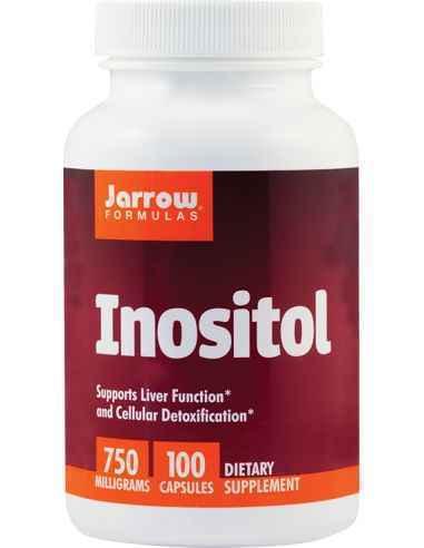 Inositol 100 cps Secom, Inositol 750mg 100 capsule vegetale Jarrow FormulasMioinozitol ce ajuta la imbunatatirea echilibrului ho