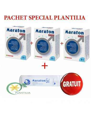 Pachet 3 Maraton Forte 4 cps + Maraton Gel 50ml GRATUIT Pachet Special creat pentru cupluri.