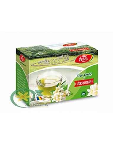 Ceai verde cu iasomie, 20 plicuri, Fares : Farmacia Tei online