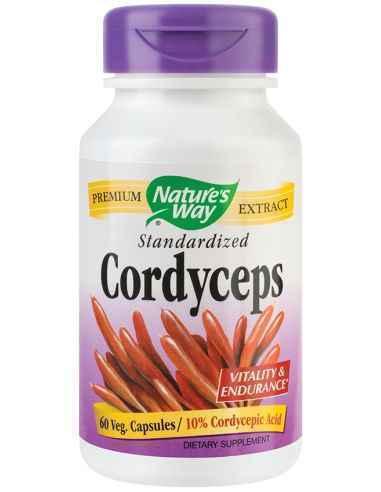 Cordyceps SE 500mg 60 capsule vegetale Nature's Way, Cordyceps SE 500mg 60 capsule vegetale Nature's WayCreste vitalitatea si lo