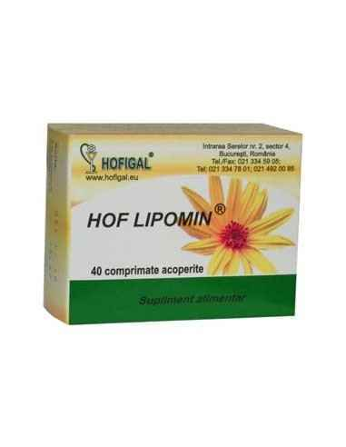 Hof Lipomin 40 cpr Hofigal Topinamburul conţine fitocomplexe de substanţe cu rol antioxidant, iar inulina din topinambur are efe