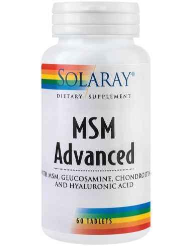 MSM Advanced Tablets 60 tb Solaray, MSM Advanced Tablets Formula naturala complexa imbogatita cu glucozamina, condroitina si aci