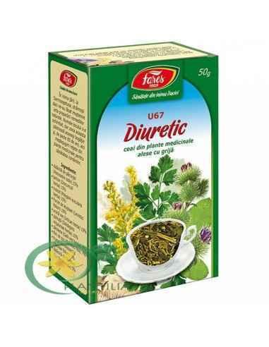 Ceai Diuretic 50g Fares Diuretic, elimină sărea şi uraţii prin urină.