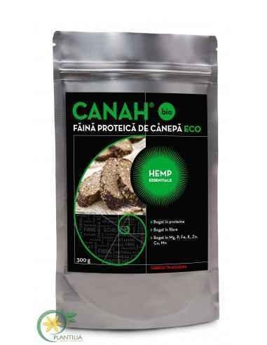 Faina de canepa CANAH BIO 300g, Faina de canepa CANAH BIO 300gFĂINA DE CÂNEPĂ este cea mai bogată în fibre (35%), comparativ cu