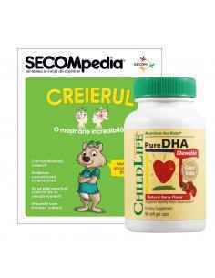Pure DHA 90cps moi masticabile (gust de fructe) Childlife Essentials