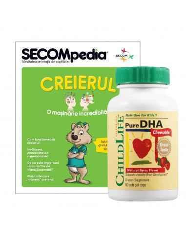 Pure DHA capsule moi masticabile cu gust de fructe Mentine functia normala a creierului