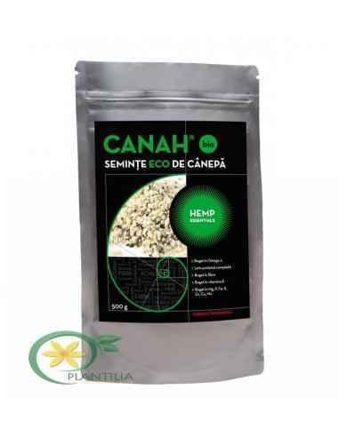 SEMINŢE DE CÂNEPĂ DECORTICATE BIO 500 g CANAH, SEMINŢE DE CÂNEPĂ DECORTICATE BIO CANAH HEMP ESSENTIALS 500 g Semințele de cânepă