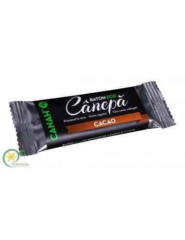 Baton Canepa cu Cacao Bio 48g CanahO gustare aflata intr-un balans perfect intre sanatate, savoare si energie!