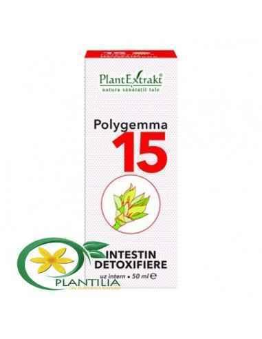 Polygemma 15, Plantextrakt, 50 ml, Detoxifiere intestin.