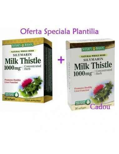 Silymarin Milk Thistle 7000mg  60 + 30 cps Nature's Bounty, Silymarin Milk Thistle 7000mg 60 +30 cps Nature's Bounty Pentru pro