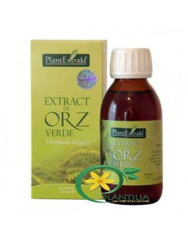 Extract de Orz Verde 120ml PlantExtrakt Orzul verde este până în prezent cea mai bogată sursă de superoxid dismutază (SOD), enzi