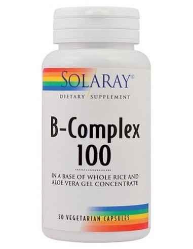 B-Complex 100 50 capsule vegetale SolarayFormula complexa ce ajuta la functionarea normala a sistemului nervos.