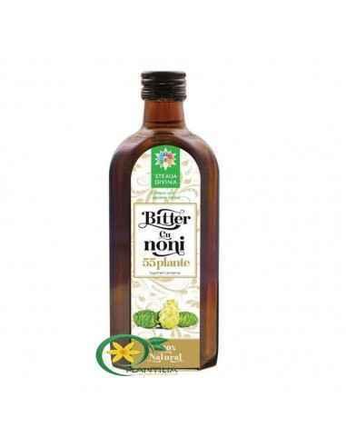 Bitter cu Noni 250 ml Steaua Divina Acest produs este un excelent tonic, revitalizant, regenerant, reintineritor, care aduce mu