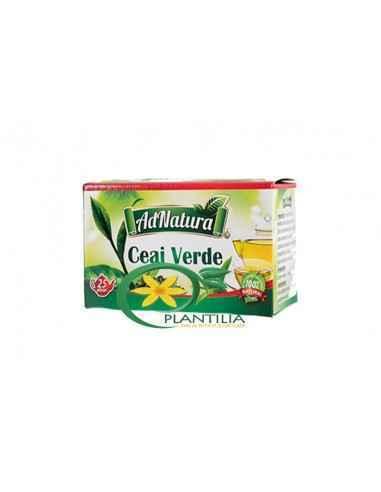 Ceai Verde 25 plicuri AdNatura Antioxidant, şi astfel reduce riscul aterosclerozei, ajută la buna funcţionare a aparatului cardi