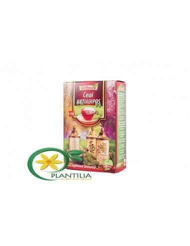 Ceai Antiadipos 50g AdNatura, Ceai Antiadipos 50g AdNatura Participă la metabolismul lipidic, contribuind la arderea grăsimilor