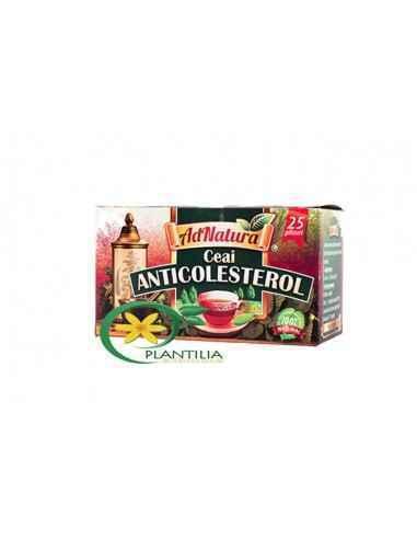 Ceai Anticolesterol 25 plicuri AdNatura, Ceai Anticolesterol 25 plicuri AdNatura Contine un amestec omogen in proportii variabil