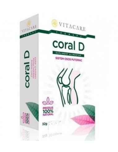 Coral D Sursa naturala de calciu din corali si minerale asociate, imbogatita cu magneziu si vitamina D.