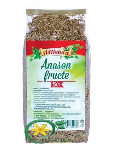 Anason Fructe 150g AdNatura, Anason Seminte 150g AdNatura Anasonul, ca plantă medicinală (mod de utilizare-infuzie), este utiliz