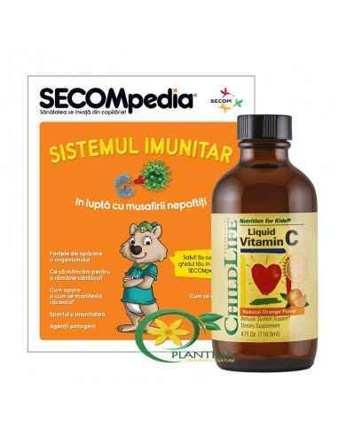 Vitamina C 250mg pentru copii gust de portocale 118.5ml Vitamina C pentru functionarea normala a sistemului imunitar.