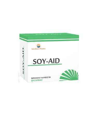 SOY-AID 60CPS SUNWAVE PHARMA De primă linie în menopauză. Combinaţie esenţială de 7 extracte naturale cu acţiune sinergică pentr