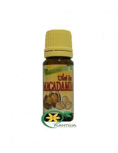 Ulei de Macadamia 10ml Herbavit Uleiul de macadamia este în special recomandat pielii fragile, în tratamentul vergeturilor, cic
