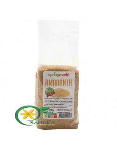 Amaranth 200g SpringMarkt Amaranthul este considerat ca si un frate mai mic al quinoei. Are un continut ridicat de proteine, cal