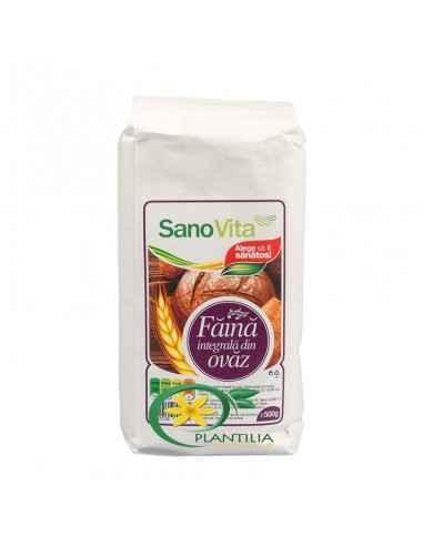Faina Integrala de Ovaz 500g SanoVita,  Faina Integrala de Ovaz 500g SanoVita  Ovăzul este una dintre cerealele cele mai bogate