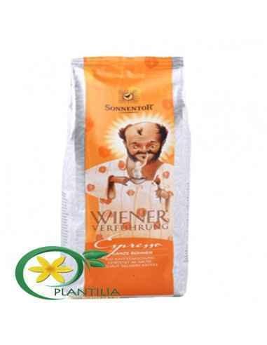 Cafea Bio Espresso Boabe 500g Sonnentor,   Cafea Bio Espresso Boabe 500g Sonnentor Amestec din boabe de cafea Bio Arabica de cal