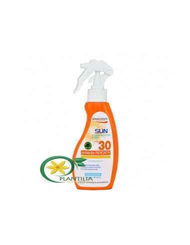 Lotiune Solara Spray FPS 30 Gerocossen 200 ml Spray cu factor SPF 30 ofera protectie ridicata si este extrem de rezistent la