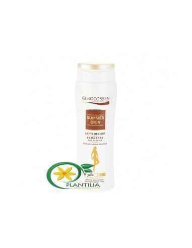 Lapte Autobronzant Piele Deschisa Gerocossen Laptele de corp ajuta la bronzarea progresiva a pielii, oferind un aspect de bro