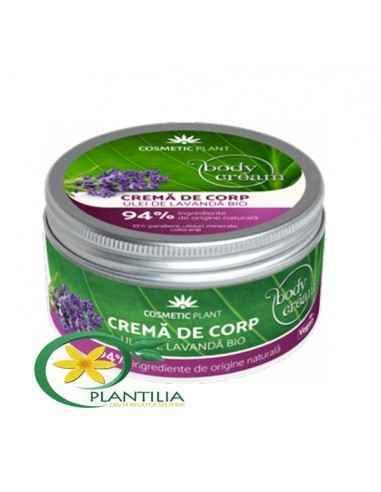 Crema Corp cu Ulei de Lavanda Bio Cosmetic Plant 200 ml Crema corp cu ulei de lavandă ajută la calmarea şi hidratarea eficientă