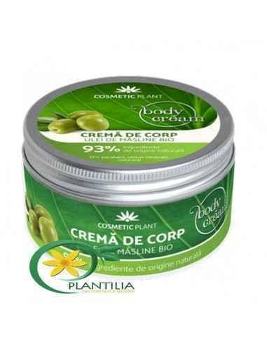 Crema Corp cu Ulei deMasline Bio Cosmetic Plant 200 ml Crema de corp cu ulei de măsline bio hrăneşte şi hidratează eficent piel