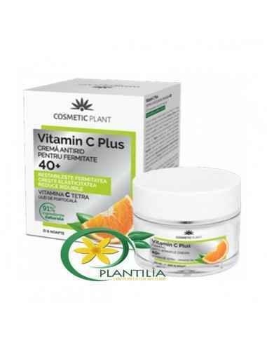 Crema Antirid Fermitate 40+ Vitamin C Plus Cosmetic Plant 50 ml Vitamina C Tetra, o formă stabilă a vitaminei C clasice, pătru