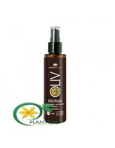 Ulei pentru plajă OLIV cu ulei de morcov, ulei de măsline şi vitamina E - SPF10 150 ml Cosmetic Plant  Uleiul pentru plajă OLIV