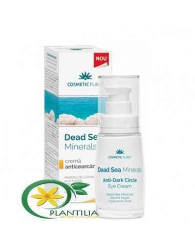 Cremă Anticearcăn cu Minerale de la Marea Moartă, Alge Marine şi Acid Hialuronic - Dead Sea Minerals 30ml Cosmetic Plant  Des