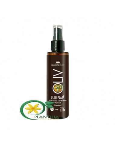 Ulei pentru plajă OLIV cu ulei de morcov, ulei de măsline şi vitamina E - SPF6 150 ml Cosmetic Plant  Uleiul pentru plajă OL