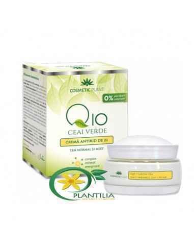 Cremă antirid de zi Q10 si ceai verde și complex mineral energizant 50 ml Cosmetic Plant Noua cremă antirid de zi Q10 și cea