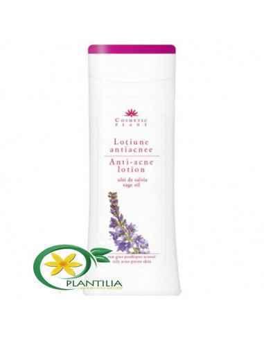 Loţiune antiacnee cu ulei de salvie 200 ml Cosmetic Plant  Loțiunea purifică tegumentul și contribuie la prevenirea apar