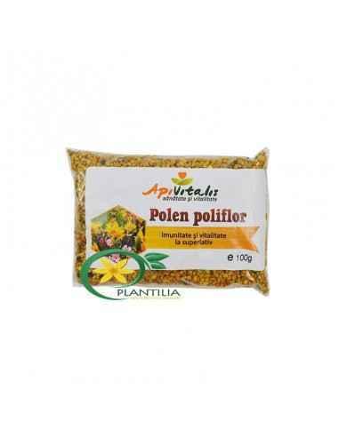 Polen Poliflor 100g Apivitalis Polenul uscat este considerat un super-aliment datorita continutului ridicat de enzime, antioxida