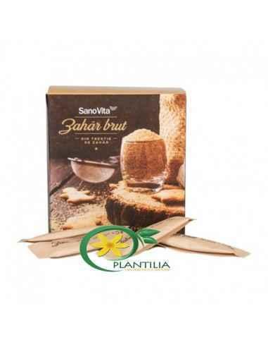 Zahăr brut din trestie plic SanoVitaZahărul brut nu conţine coloranţi sau aditivi alimentari. Este obţinut prin procedee simp