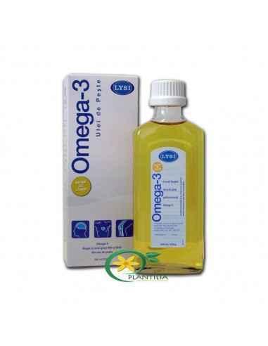 Omega 3 ulei peste cu aroma de lamaie LYSI 240 ml PENTRU CREIER, INIMA SI OASE SANATOASE! Omega-3 cu aroma de lamaie LYSI, lichi
