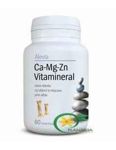 Calciu Magneziu Zinc Vitamineral 60 cpr Alevia