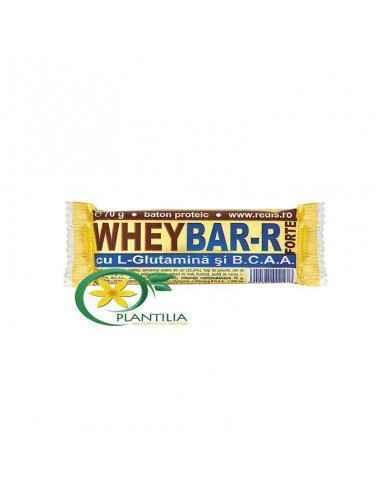 Baton proteic Wheybar-R Forte Este un baton bogat in proteine indicat pentru cresterea nivelului de energie, a masei musculare s